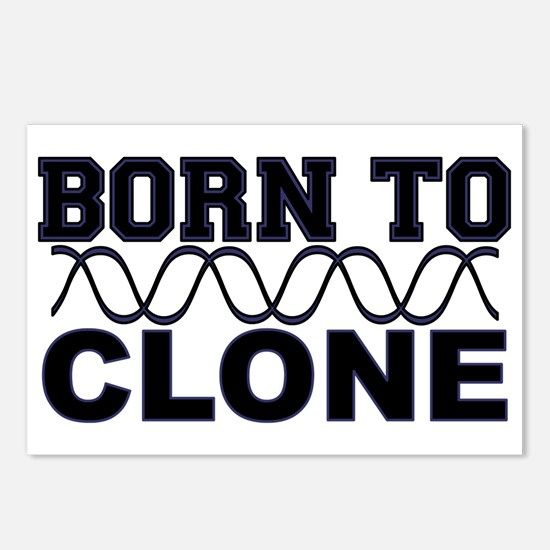 Born to Clone - DNA Postcards (Package of 8)