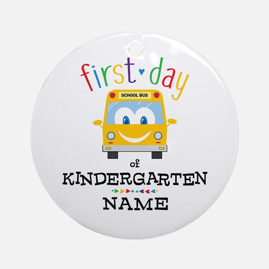 Custom Kindergarten Round Ornament