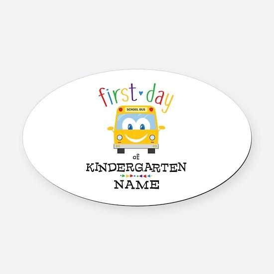Custom Kindergarten Oval Car Magnet