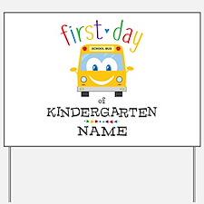 Custom Kindergarten Yard Sign