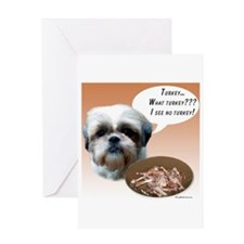Shih Tzu(natural) Turkey Greeting Card