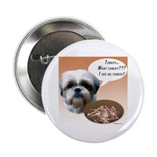 "Shih Tzu(natural) Turkey 2.25"" Button"