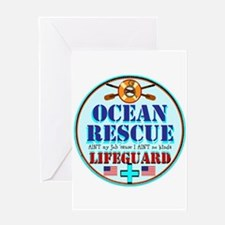 Ocean Rescue Lifeguard Greeting Cards