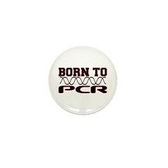 Born to PCR Mini Button (10 pack)