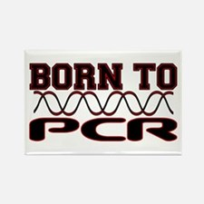 Born to PCR Rectangle Magnet (10 pack)
