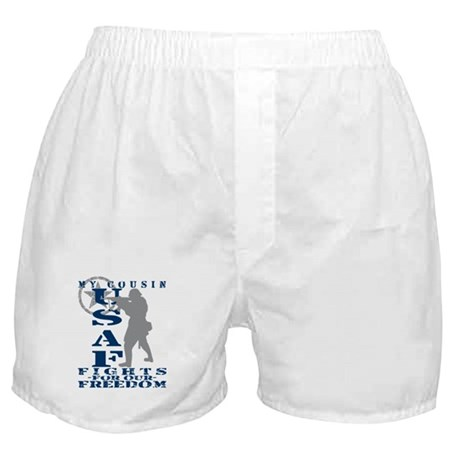 Cousin Fights Freedom - USAF Boxer Shorts