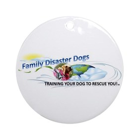 Family Disaster Dogs Round Ornament