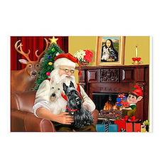 Santa's two Scotties (P1) Postcards (Package of 8)