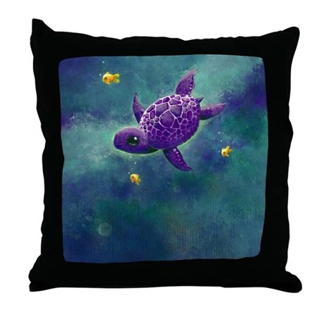 Sea Turtle and friends Throw Pillow