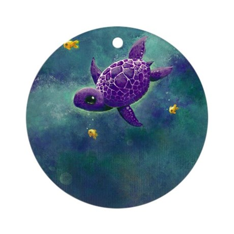 Sea Turtle and friends Ornament (Round)