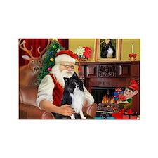 Santa's Bi Black Sheltie Rectangle Magnet (10 pack