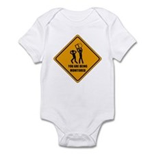 You Are Being Monitored Infant Bodysuit