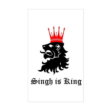 Singh is King Rectangle Sticker