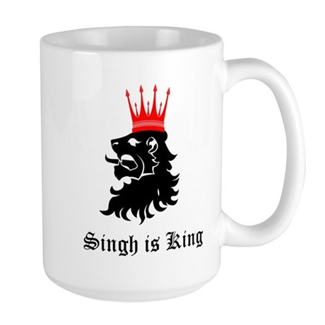 Singh is King Large Mug