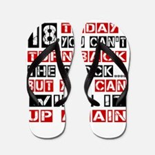 18 Birthday Turn Back Designs Flip Flops