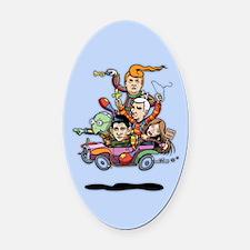 GOP Clown Car '16 Oval Car Magnet