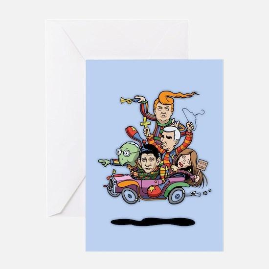 GOP Clown Car '16 Greeting Card