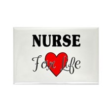 Nurse For Life Rectangle Magnet (10 pack)