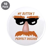 """Perfect Disguise 3.5"""" Button (10 pack)"""