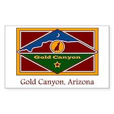Gold Canyon AZ Flag Rectangle Decal