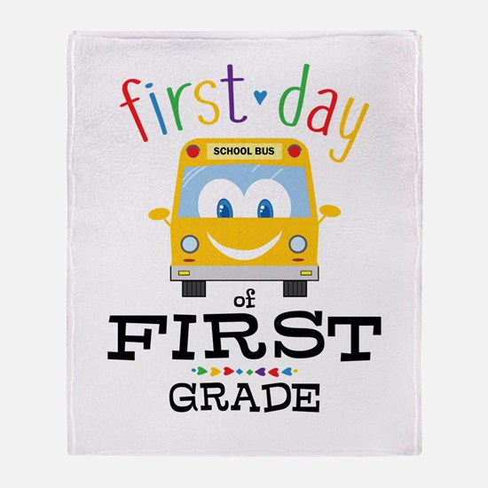 First Grade Throw Blanket