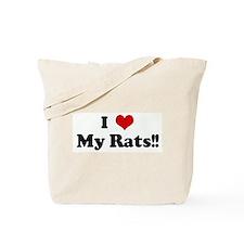 I Love My Rats!! Tote Bag