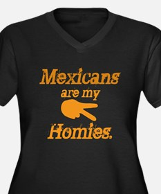 Mexican Homies Women's Plus Size V-Neck Dark T-Shi