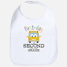 First Day Second Grade Bib