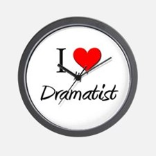 I Love My Dramatist Wall Clock