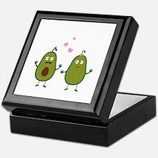 Avocados in love Keepsake Box