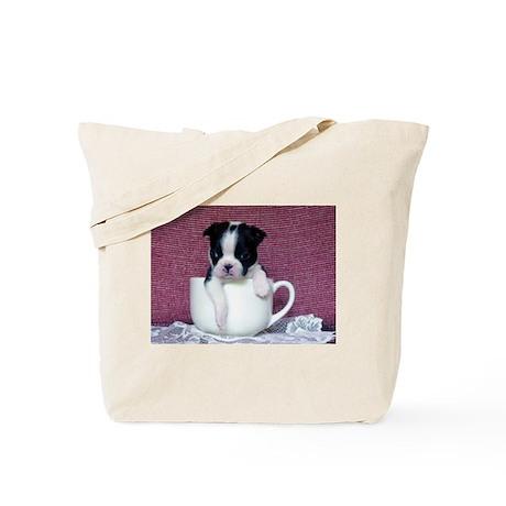 Boston Terrier Teacup Design Tote Bag