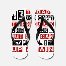 13 Birthday Turn Back Designs Flip Flops