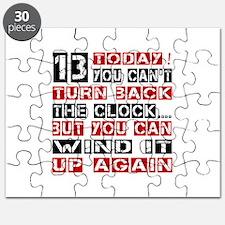 13 Birthday Turn Back Designs Puzzle