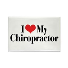 I Love My Chiropractor Rectangle Magnet (10 pack)