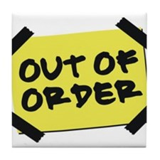 Out of Order Tile Coaster