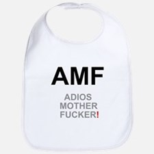 TEXTING SPEAK - - AMF ADIOS MOTHER FUCKER! Z Bib