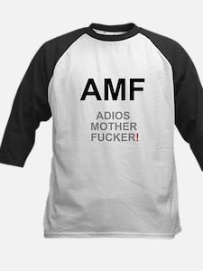TEXTING SPEAK - - AMF ADIOS MOTHER Baseball Jersey