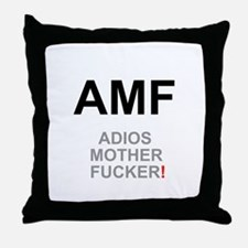TEXTING SPEAK - - AMF ADIOS MOTHER FU Throw Pillow
