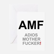 TEXTING SPEAK - - AMF ADIOS MOTHER Greeting Cards