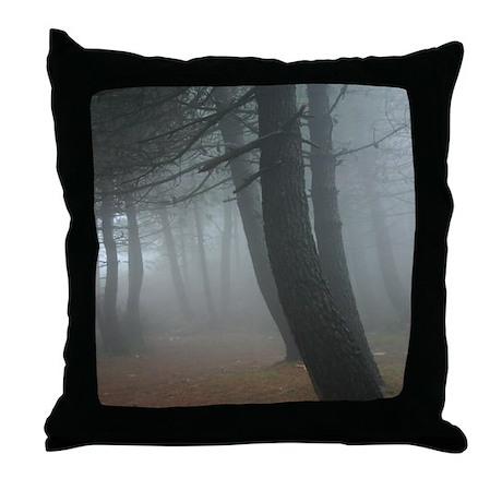 Mysterious Mist Throw Pillow