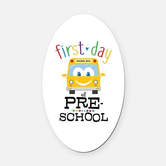 Preschool Oval Car Magnet