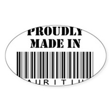 made in Mauritius Oval Decal