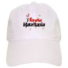 i love Mauritania Baseball Cap