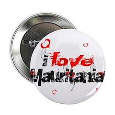 """i love Mauritania 2.25"""" Button"""