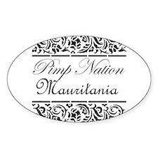 Pimp nation Mauritania Oval Decal