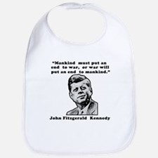 JFK Anti-War Quote Bib