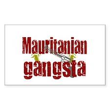 Mauritanian Gangsta Rectangle Decal