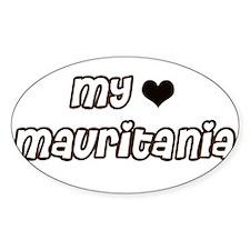 my heart Mauritania Oval Decal
