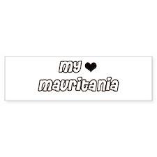 my heart Mauritania Bumper Bumper Sticker