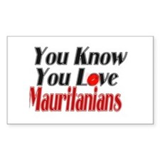 you know you love Mauritania Rectangle Decal
